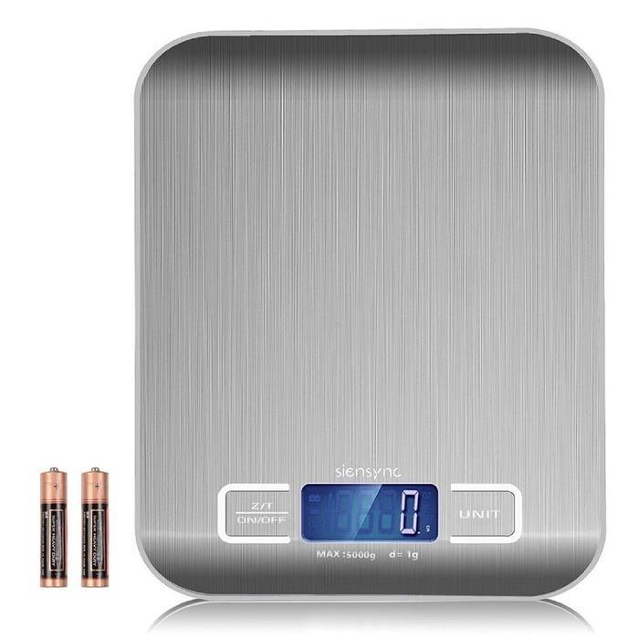 [DARI JAKARTA] Timbangan Dapur Stainless Steel Max 5kg Akurasi 1 gram Digital Scale Kue Masak Kitchen Portable