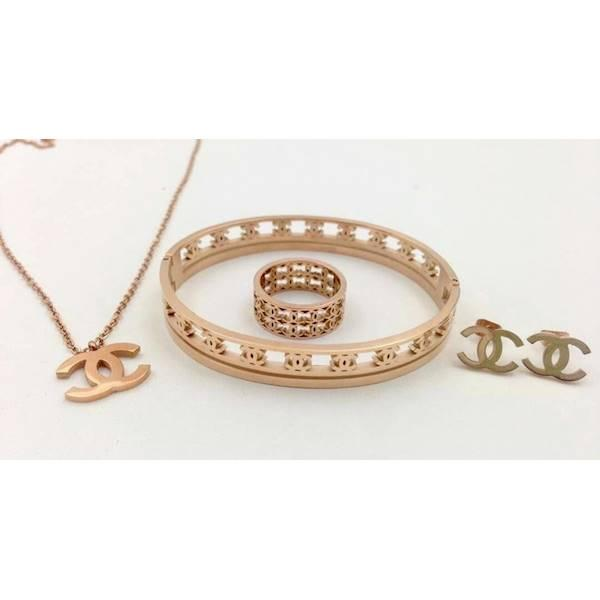 1 Set Acc Chanel - Gelang - Cincin - Kalung - Anting