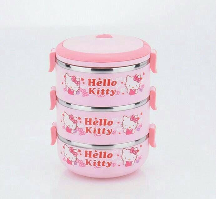 Rantang 3 susun karakter Hello kitty
