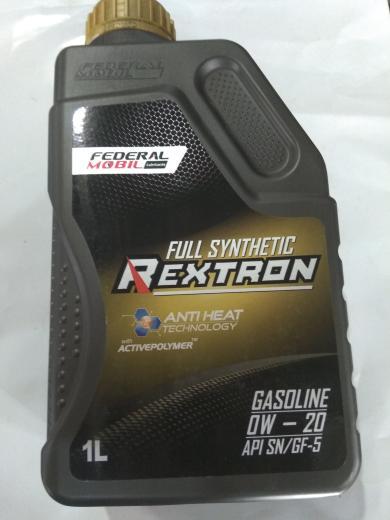 oli federal mobil REXTRON GASOLINE 0W-20 API SN/GF-5 1LT