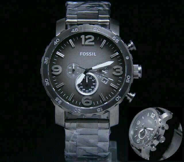 Diskon 10%!! Fossil Chrono Graph. Full Black. Pria. Super Grade Aaa - ready stock