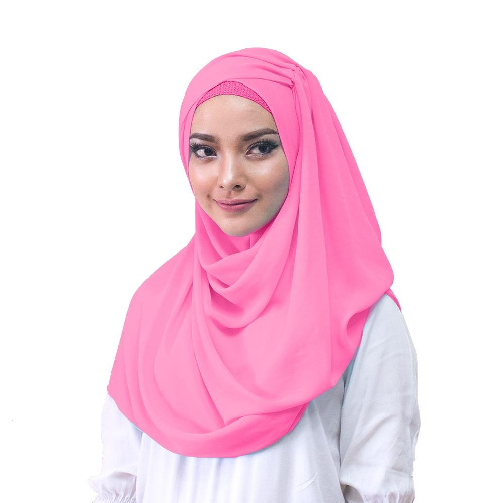 Hana Ceruti Hijab Jilbab Instan - [Warna Pink]