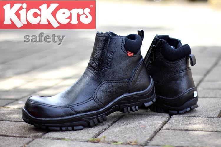 KICKERS RUBICON LEATHER- sepatu boots safety ujung besi SEPATU boots pria  kulit sapi asli sepatu 5fc625ac3d