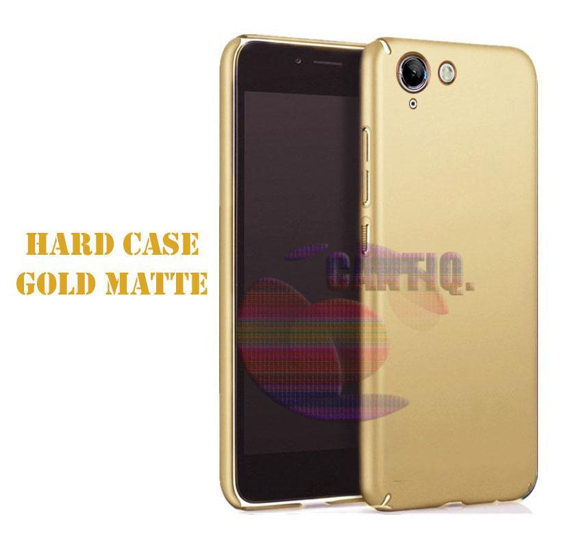 Case Vivo V5 Hard Slim Gold Mate Anti Fingerprint Hybrid Case Baby Skin Vivo V5 Baby Soft Lenovo  Hardcase Vivo V5 Plastic Back Cover / Casing Vivo V5 / Case Vivo V5 -  Emas / Gold
