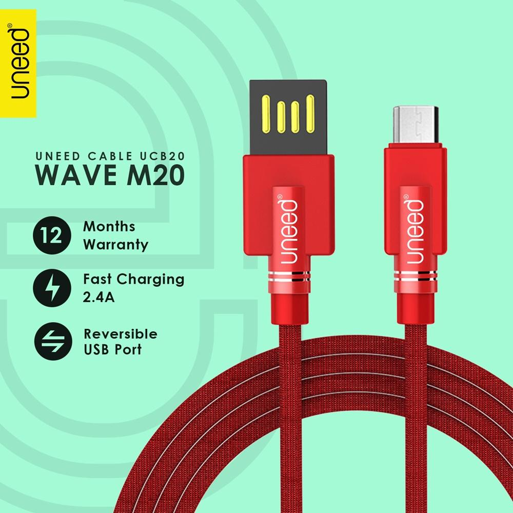 Kabel Charger Data Smartphone Iphone 4 Flat Wellcomm Hitam Uneed Wave M20 Micro Usb Fast Charging 24a Original