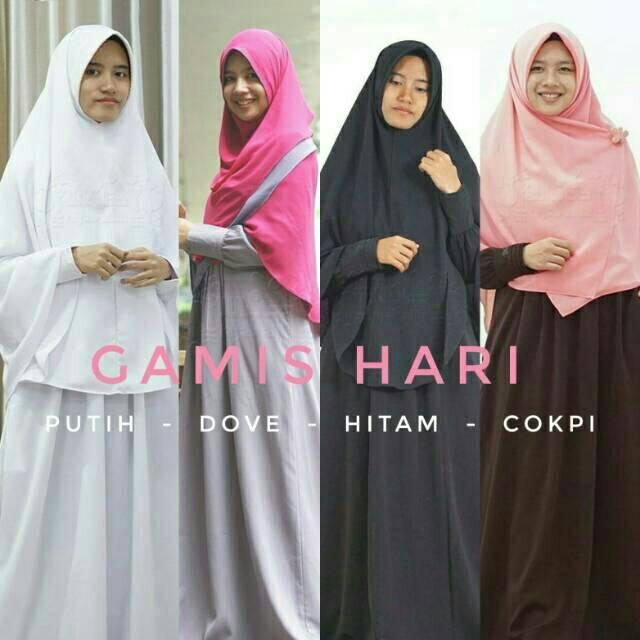 (TERBARU) Gamis Hari #1 - Hijab Alila (hijau daun M)