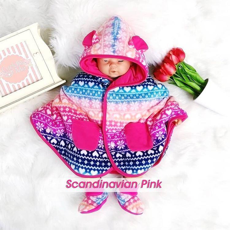 Cuddle Me Baby Cape Scandinavian Pink - Jaket Multifungsi untuk Bayi & Anak Jaket Anak Jaket Lucu Jaket Keren Jaket Bayi Jaket Anak Jaket Imut Super Best Seller