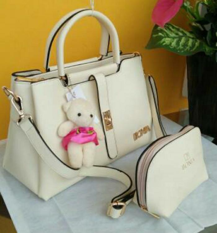 DISKON Tas wanita Bonia lidah 3 ruang/tas wanita branded murah impor handbag