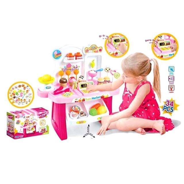 Best seller!! Minimarket ice cream playset pink Cek stok dl
