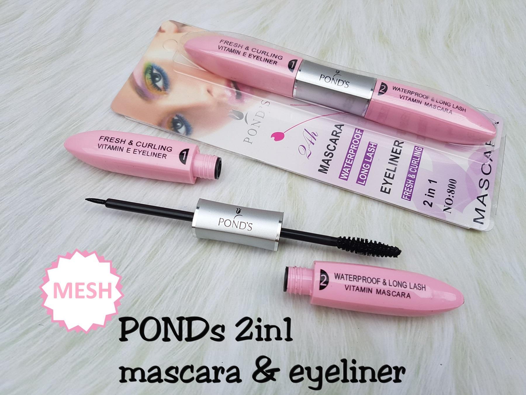 Mesh POND'S/NKD Mascara Eyeliner 2 in 1 - Mascara Eyeliner Waterproof 2in1 - 1