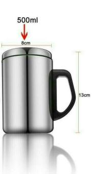 Thermos Mug Stainless Steel 500 mL / Gelas Vacuum Cup Stainless Steel / Gelas Kopi