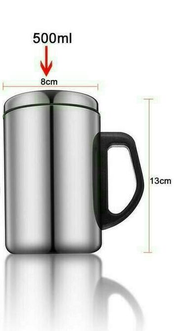 Thermos Mug Stainless Steel 500 Ml / Gelas Vacuum Cup Stainless Steel / Gelas Kopi By Maxi Store.