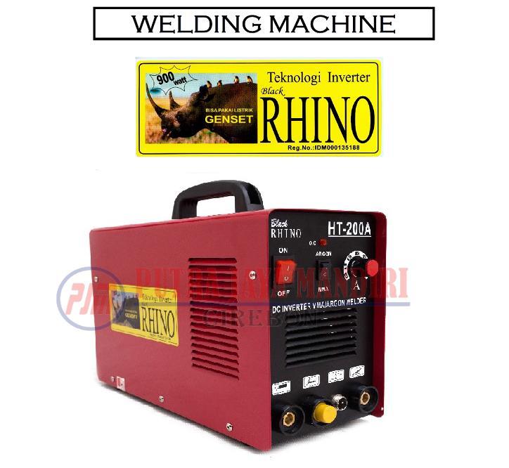 Rhino Mesin Trafo Las Argon Inverter Welder TIG HT-200A