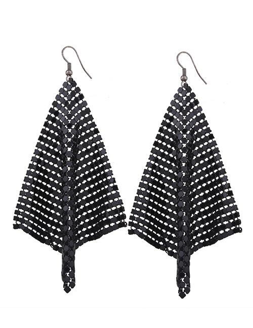 LRC Anting Gantung Fashion Sequins Decorated Pure Color Simple Earrings