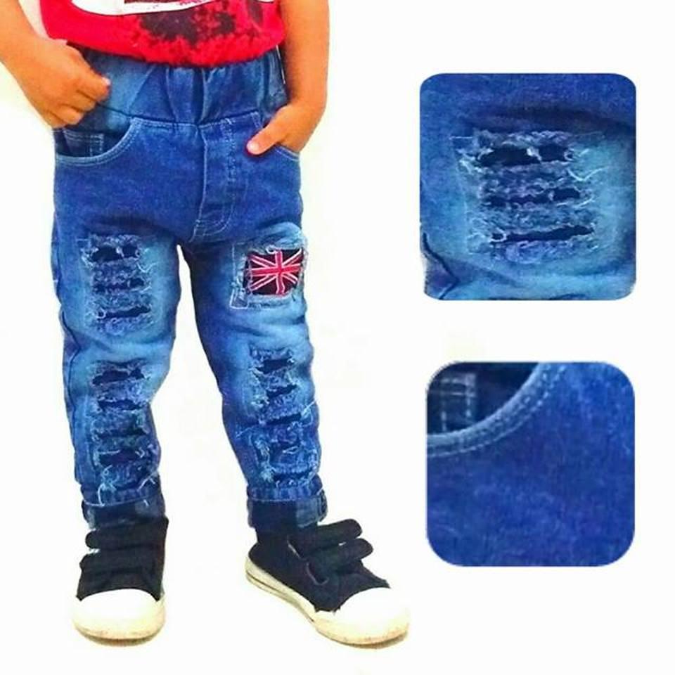 celana anak laki laki bahanjean model sobek