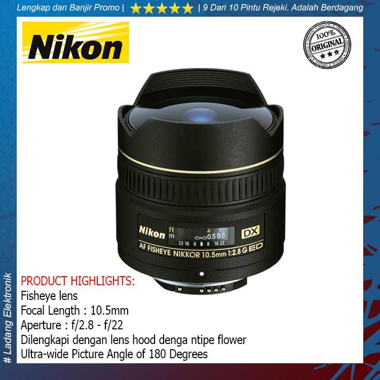 Nikon Lensa AF DX 10.5mm f/2.8G Fisheye