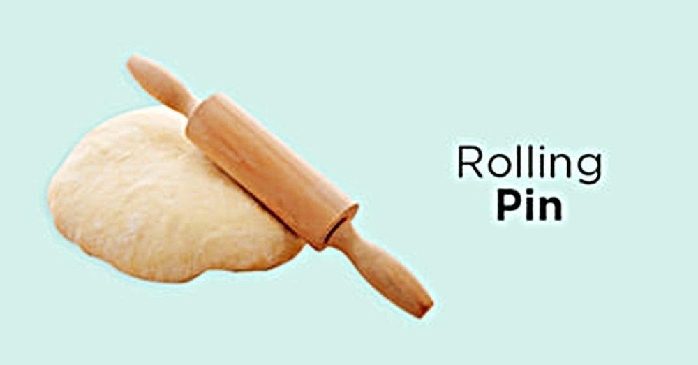Rollpin rolling pin nastar gulung gilingan adonan kue kering kayu - Rollpin Kue roti Lebaran