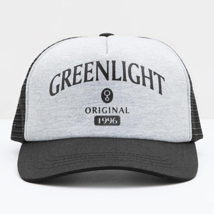 Topi Trucker Greenlight Black Grey