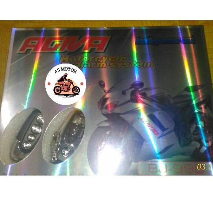 Alarm Motor AGIVA / Remote Alaram Agiva / Alarm AGIVA New | ( gembok alarm motor anti maling koper sepeda pagar cakram kinbar kode tas mobil clock rumah sensor gerak pintu digital remote lock bht ) |