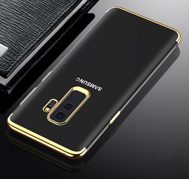 TPU PLATING Case Samsung Galaxy A6 Plus A6+ 2018 Softcase Casing Transparant Ultra Thin Silicone
