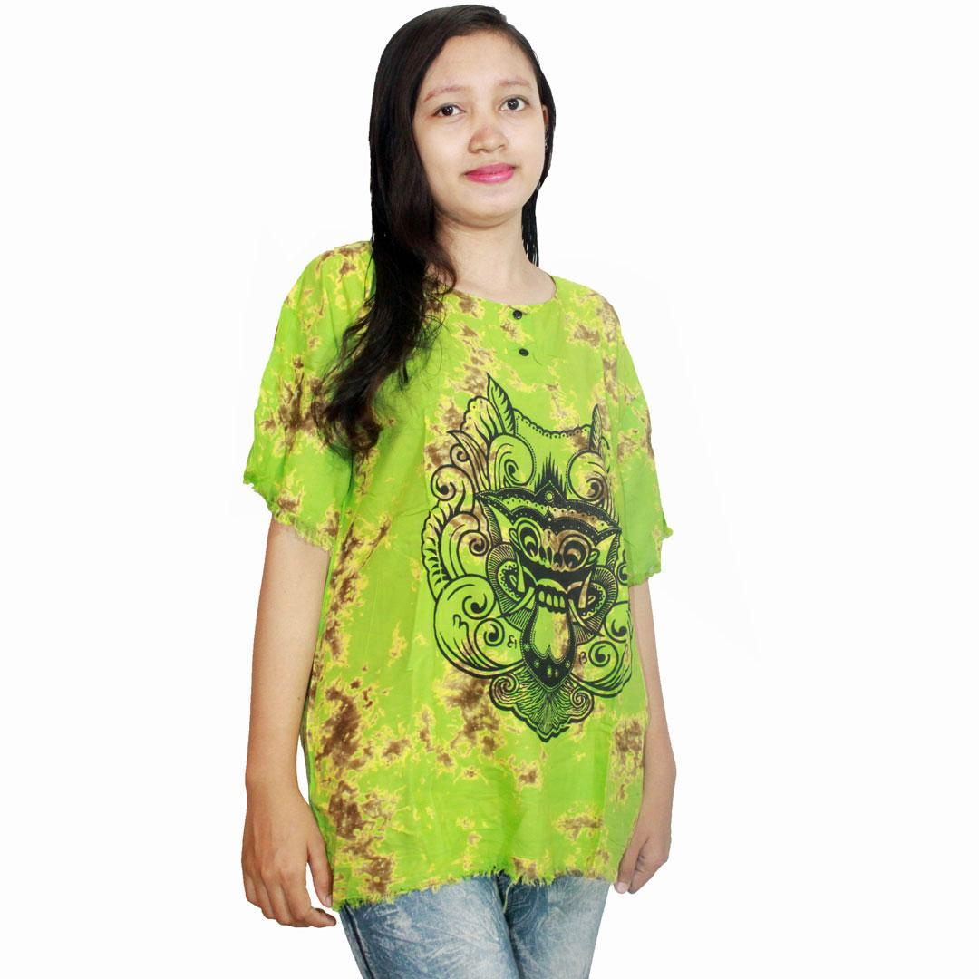 Kaos Bali Batik, Kaos Santai, Baju Tidur, Atasan Wanita (KPT001) Batik Alhadi