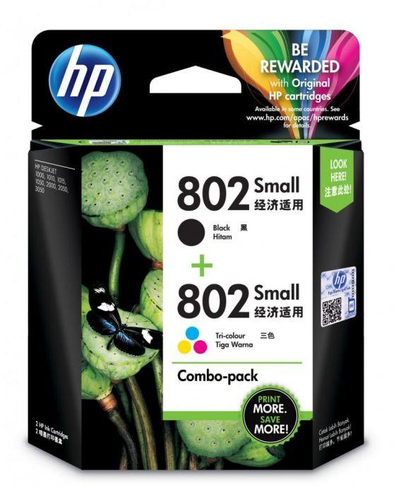 Tinta Printer HP 802 Ink Cartridge Combo Pack - Multiwarna