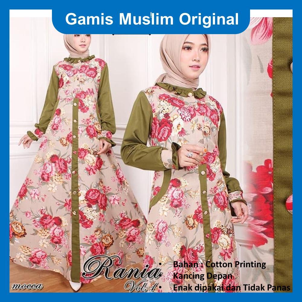Gamis Muslim Original  Rania Dress  Maxi Syari Original warna Hitam, Navy, Putih, dan Mocca  Produk baru Gamis Syari wanita muslim  Maxi Syari wanita Gamis cantik Original Gamis Original terbaru 2018  Baju Gamis Original