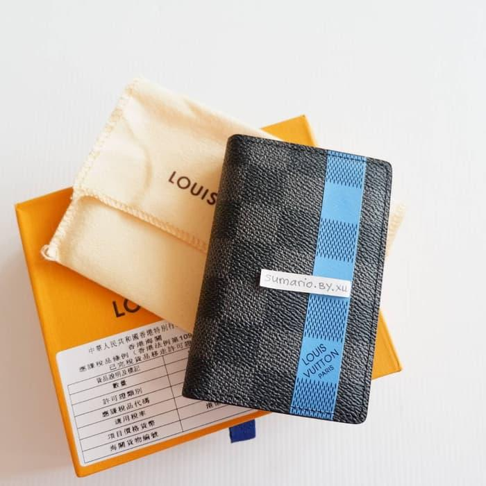 ORIGINAL!!! LV CARD WALLET HITAM DOMPET KARTU HOLDER KULIT ASLI LOUIS VUITTON - BSaYE0