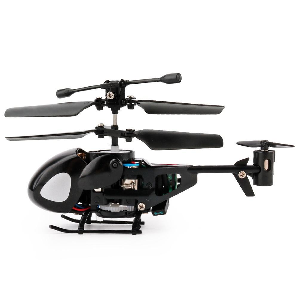 ZC 2 Saluran Inframerah Handle Remote Helikopter RC Dengan Giroskop Mini Model Pesawat Terbang Kartun Intelektual Mainan