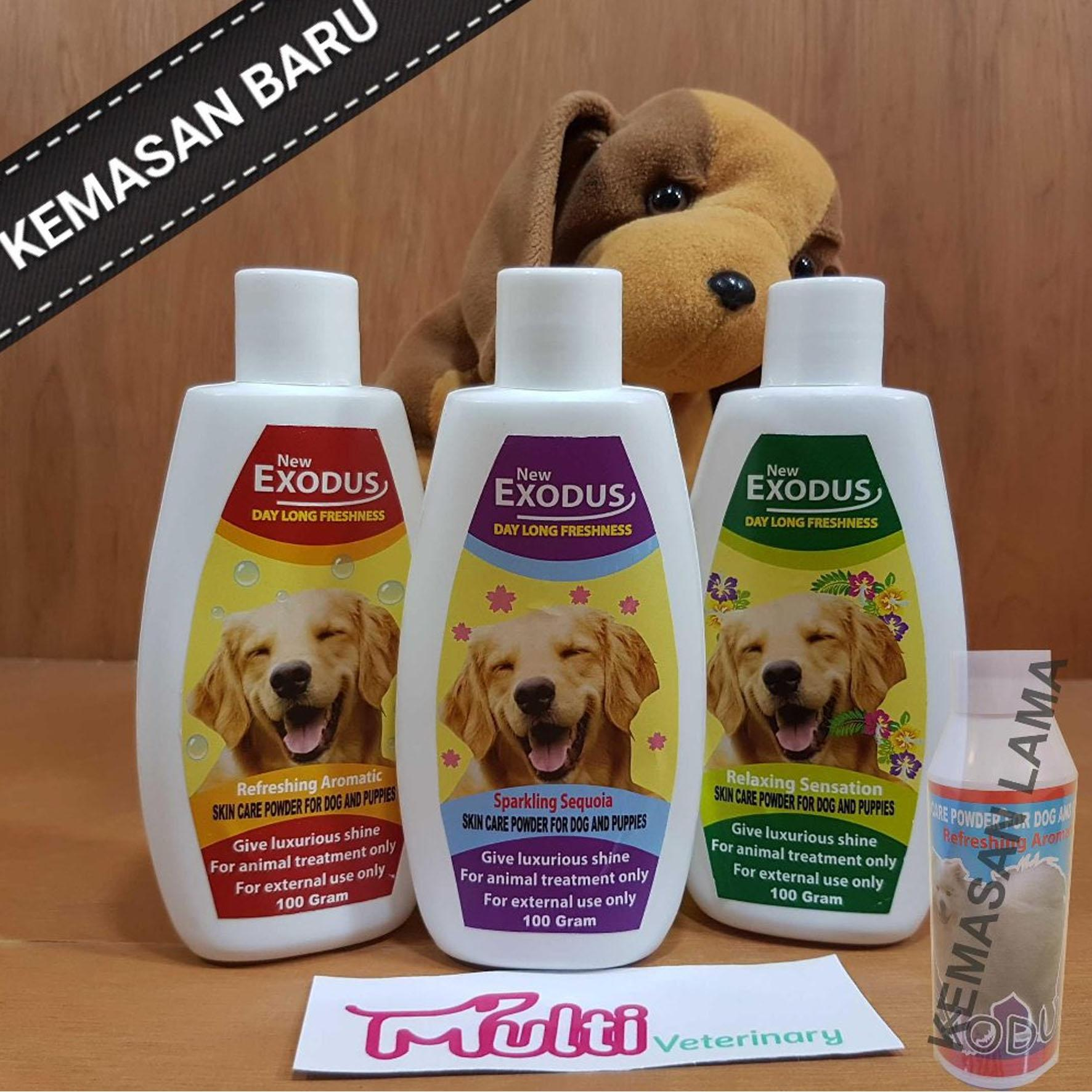 Exodus Bedak Anjing Talc Skin Care Powder For Dog And Puppies By Multi Veterinary.