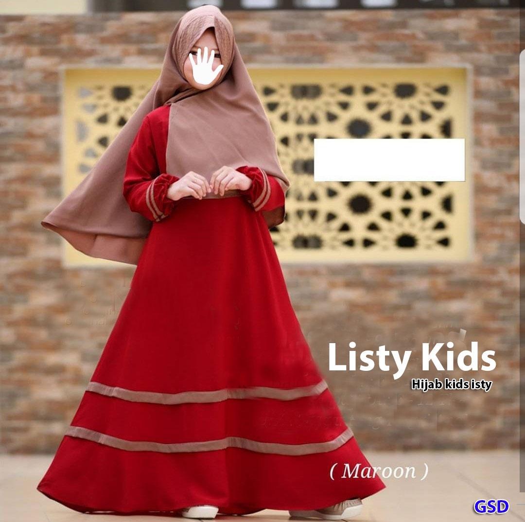 NCR-Baju Anak/ Baju Muslim Anak Cewek/ Baju Gamis Anak Cewek/ Baju Maxi Anak/ Longdress Anak/ Hijab Listy Kids/ Hijab Isti Kids