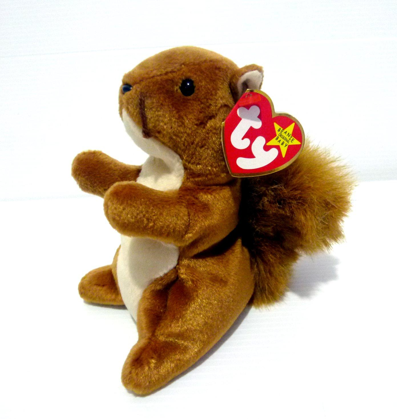 Boneka Tupai Squirrel The Beanie Babies Collection NUTS Original TY