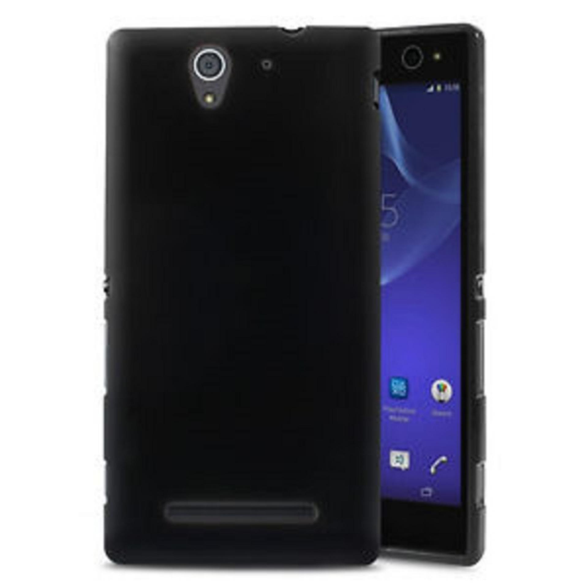 DarkNight for Sony Xperia Experia C3 / D2533 / Docomo / Dual | Slim Case Black Matte Softcase Premium (Anti Minyak/Anti Sidik Jari) - Hitam Doff