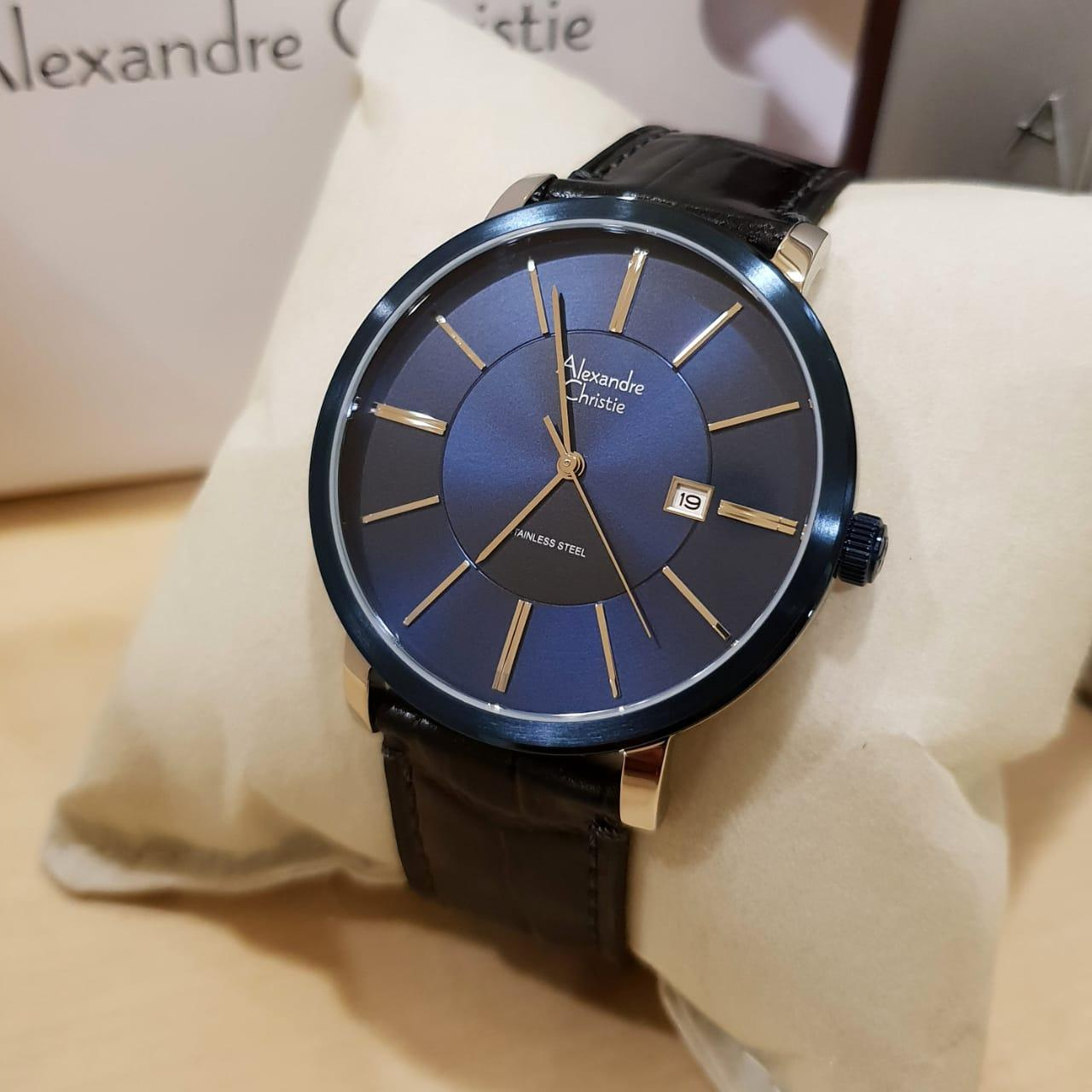 Jam Tangan Alexandre Christie Lazada Ac 6442 Mc Black White Ac8344m Original Pria Stainless Leather Hitam Silver Biru