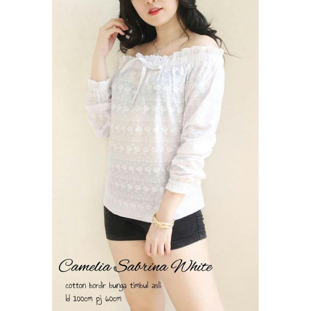 vshopjkt Camelia sabrina Fashionable blouse bagus blus bagus kualitas baik baju wanita atasan wanita top wanita