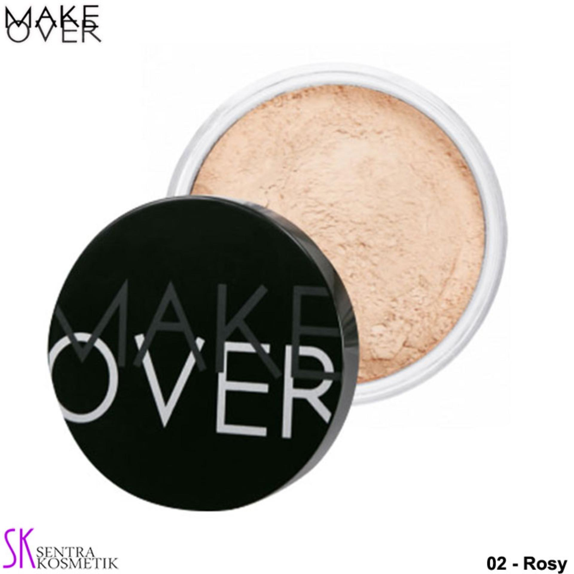 MAKE OVER Silky Smooth Translucent Powder 02 - Rosy
