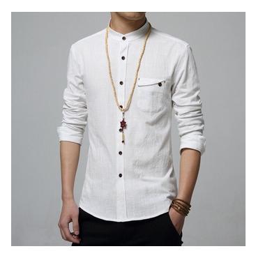 Baju Pria Kemeja Laki-Laki Bani White Putih Executive  - uPIAIN