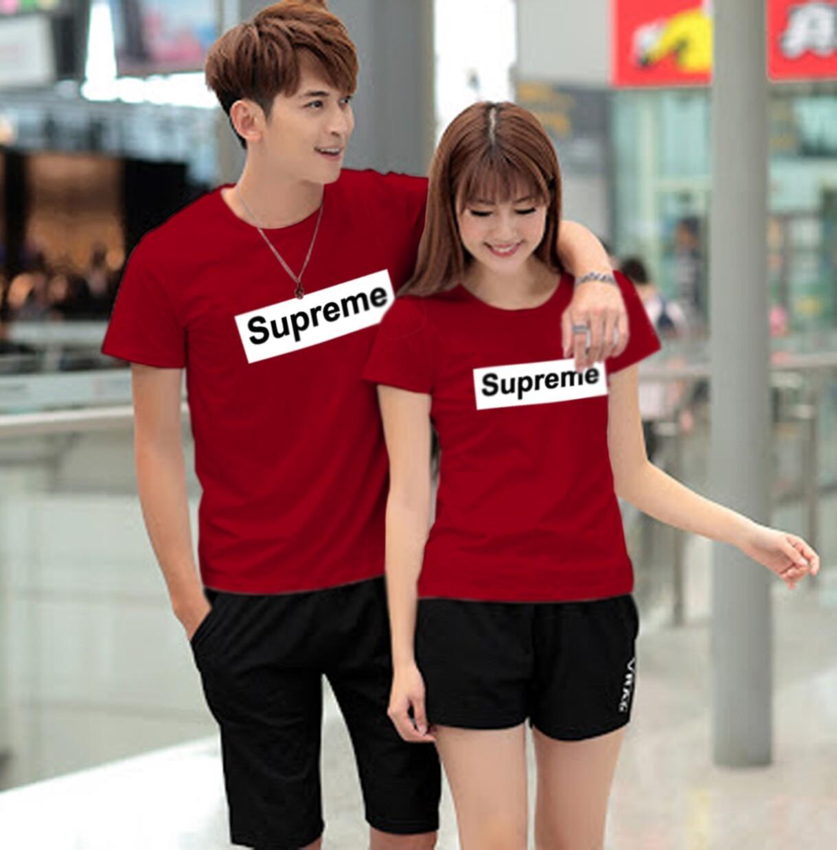 Jakarta Couple - Kaos Couple SUPREME / Kaos Pasangan / Baju Couple Murah