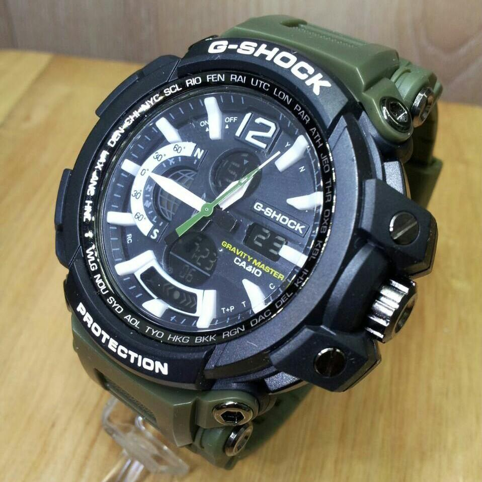 Jam tangan pria G shock sporty - Dual Time - rubber strap best seller