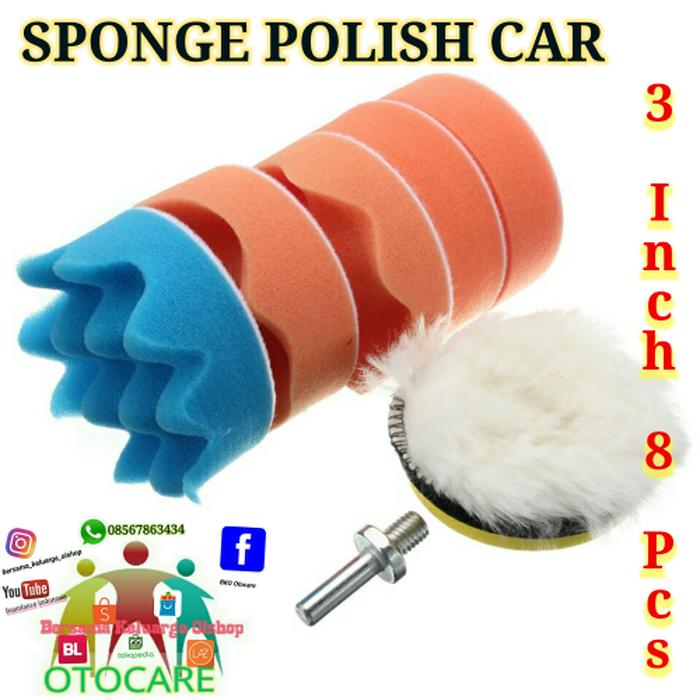 8 Buah 1778 Cm Spon Poles Waxing Digosok Penyangga Bantalan Set Kit Source · SPONGE POLISH POLES 3 inch 7 Pcs Include Adapter M14