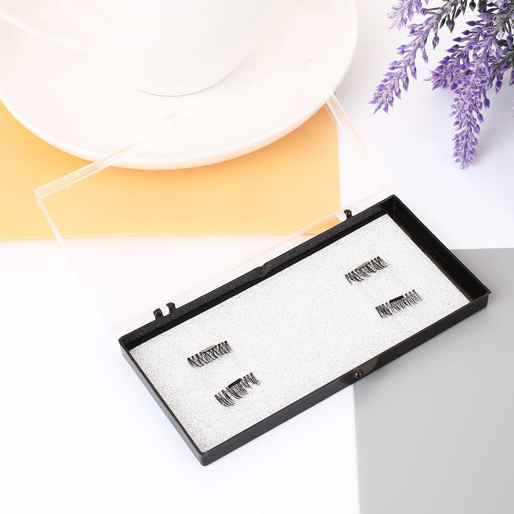 Acelit 4 Pcs Magnet Bulu Mata Palsu Palsu Mata Bulu Mata Dapat Digunakan Kembali Riasan Kosmetik