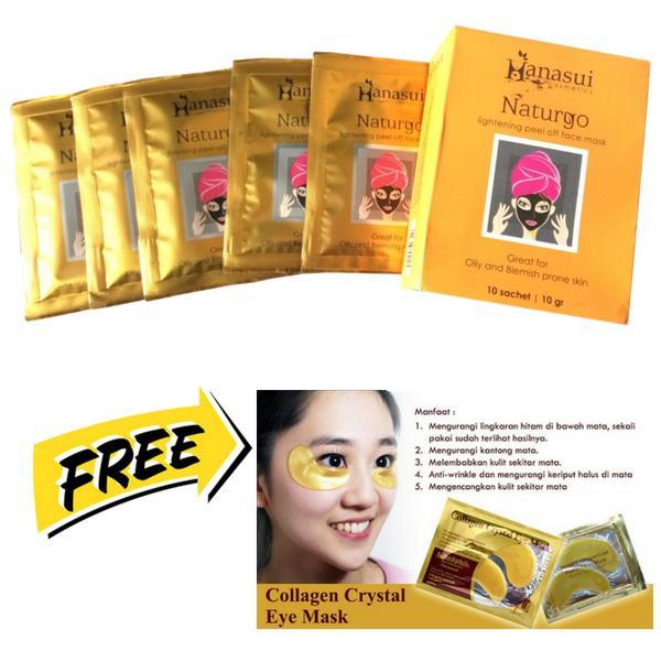 ... Naturgo Masker Lumpur Hanasui 10 pcs FREE Collagen Eye Mask