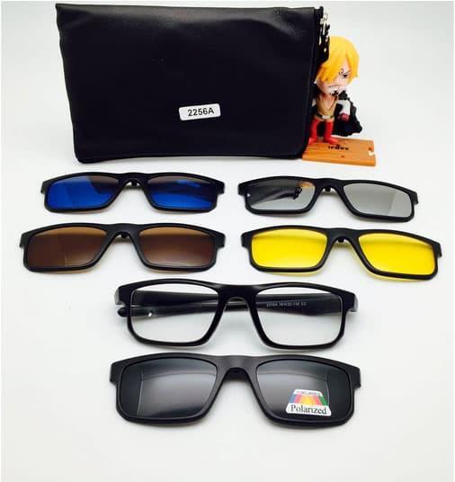 Sedang Diskon!! Kacamata Clip On 2256 Magnet 5 Lensa Frame Bisa Lepas Pasang Dan Ganti - ready stoc