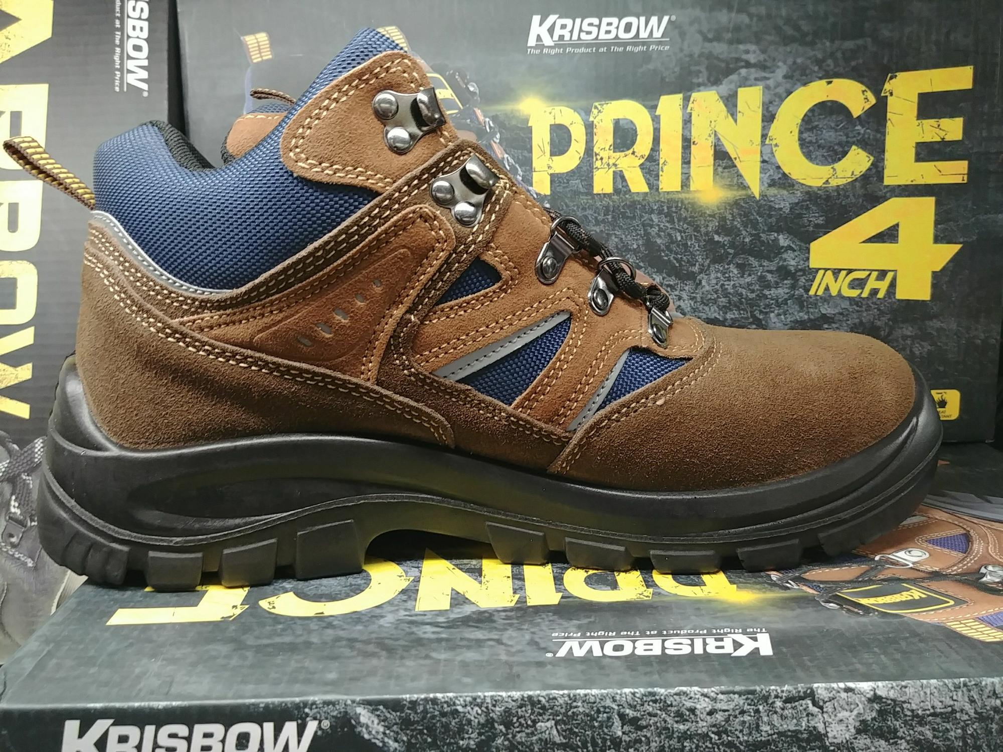 Sepatu Safety Sepatu Pengaman Prince 6 Inch Ukuran Size 42