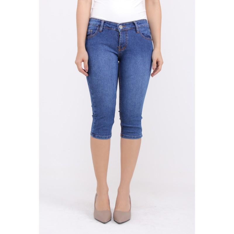 JSK Celana pendek 7/8 Jeans wanita Super jumbo stretch terbaru kekinian