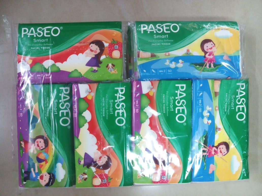 PAKET HEMAT !!! 18 Pcs PASEO Original Tisu Tissue Paseo 50 Sheets 2 Ply Travel Pack ( ISI 18 PAK )