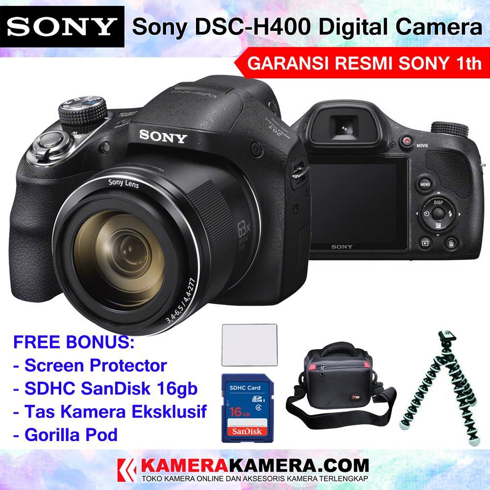 Jual Kamera Prosumer Terbaik Canon Powershot Sx430 Is Sony Cyber Shot Dsc H400 Compact Camera 63x Optical Zoom Garansi Resmi