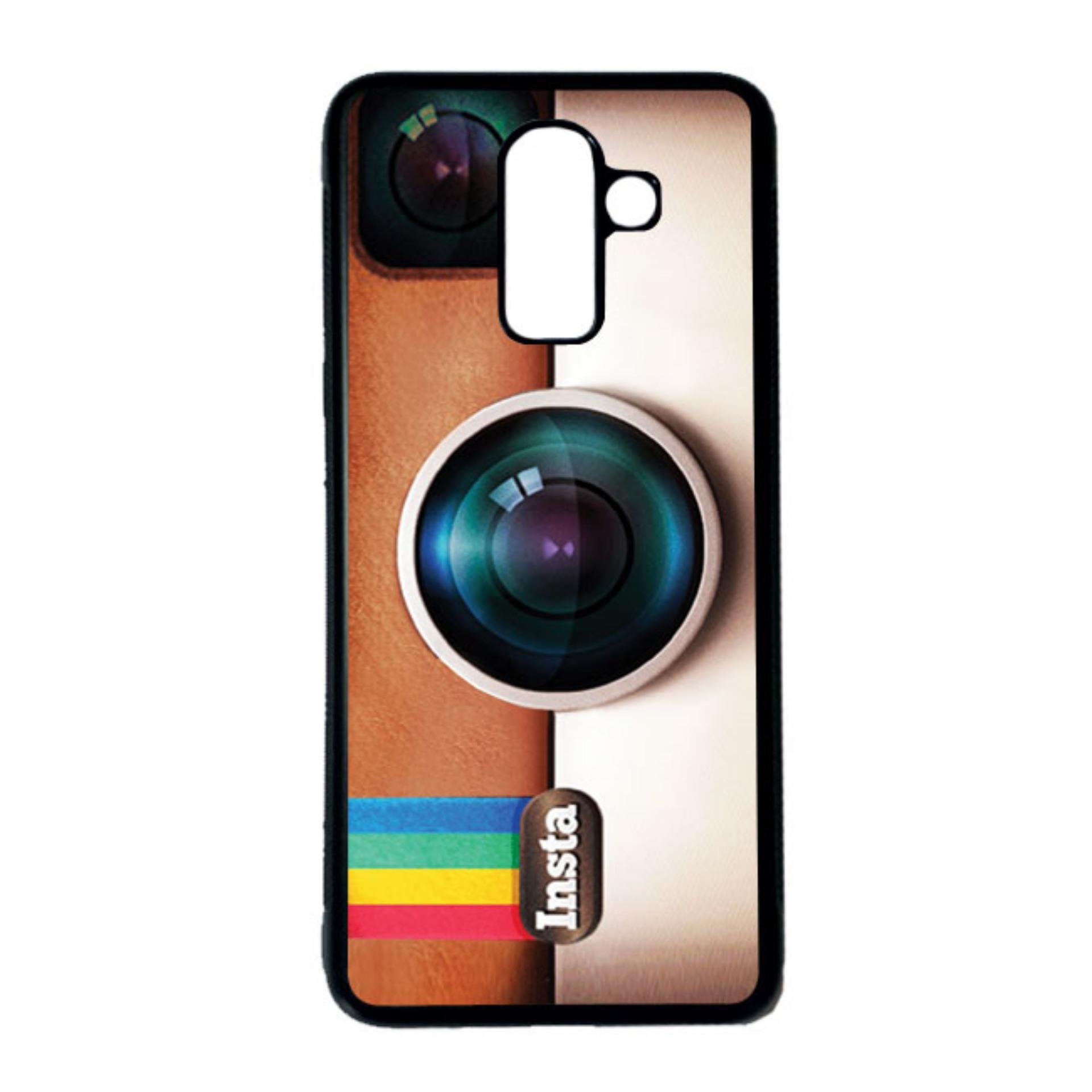 HEAVENCASE Casing Case Samsung Galaxy J8 Case Softcase Hitam Motif Unik Instagram