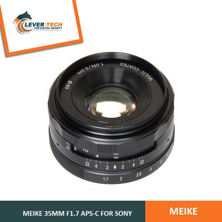 Meike for Sony 35mm f/1.7 APS-C - Hitam