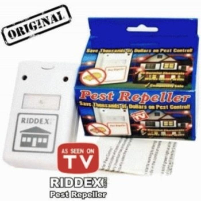 RIDDEX PLUS Pest Repeller ( STIKER BENING ) - Alat Pengusir Tikus, Kecoak, Nyamuk tanpa racun Terlaris di Lazada